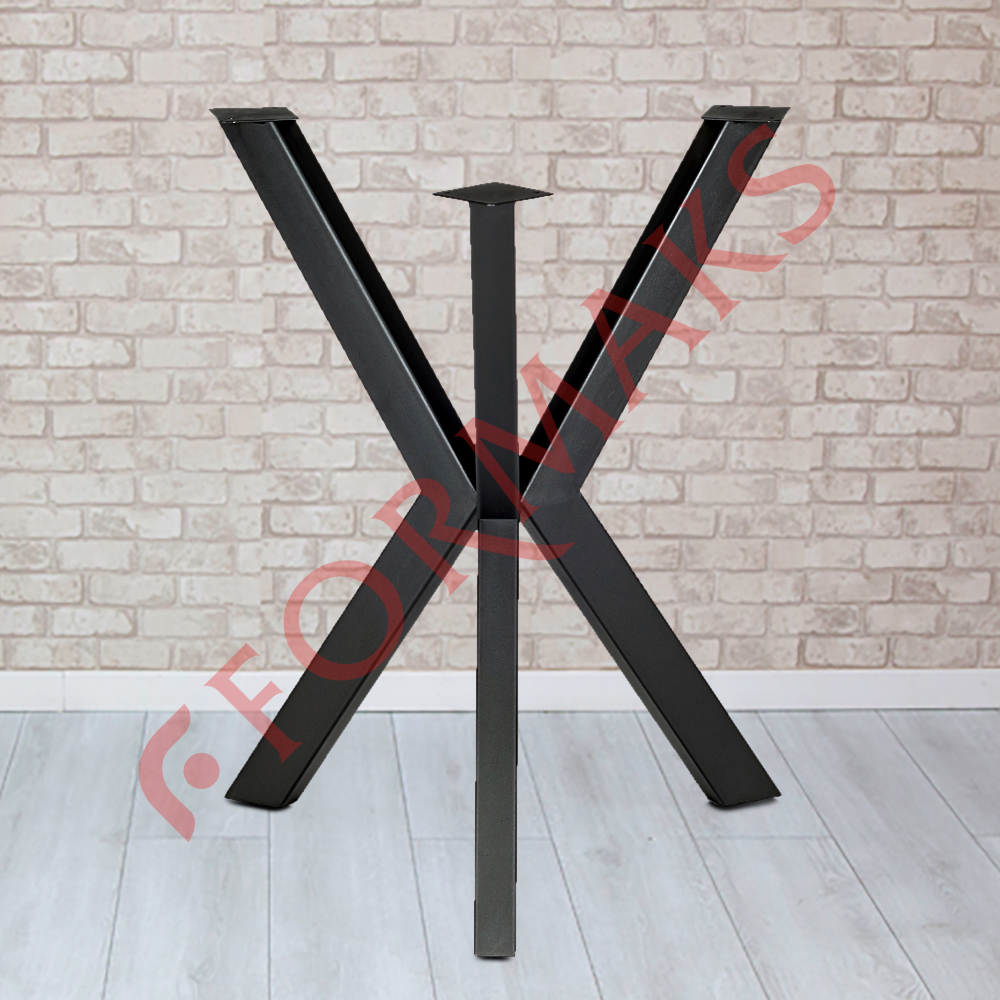 Triangular Log Table Legs