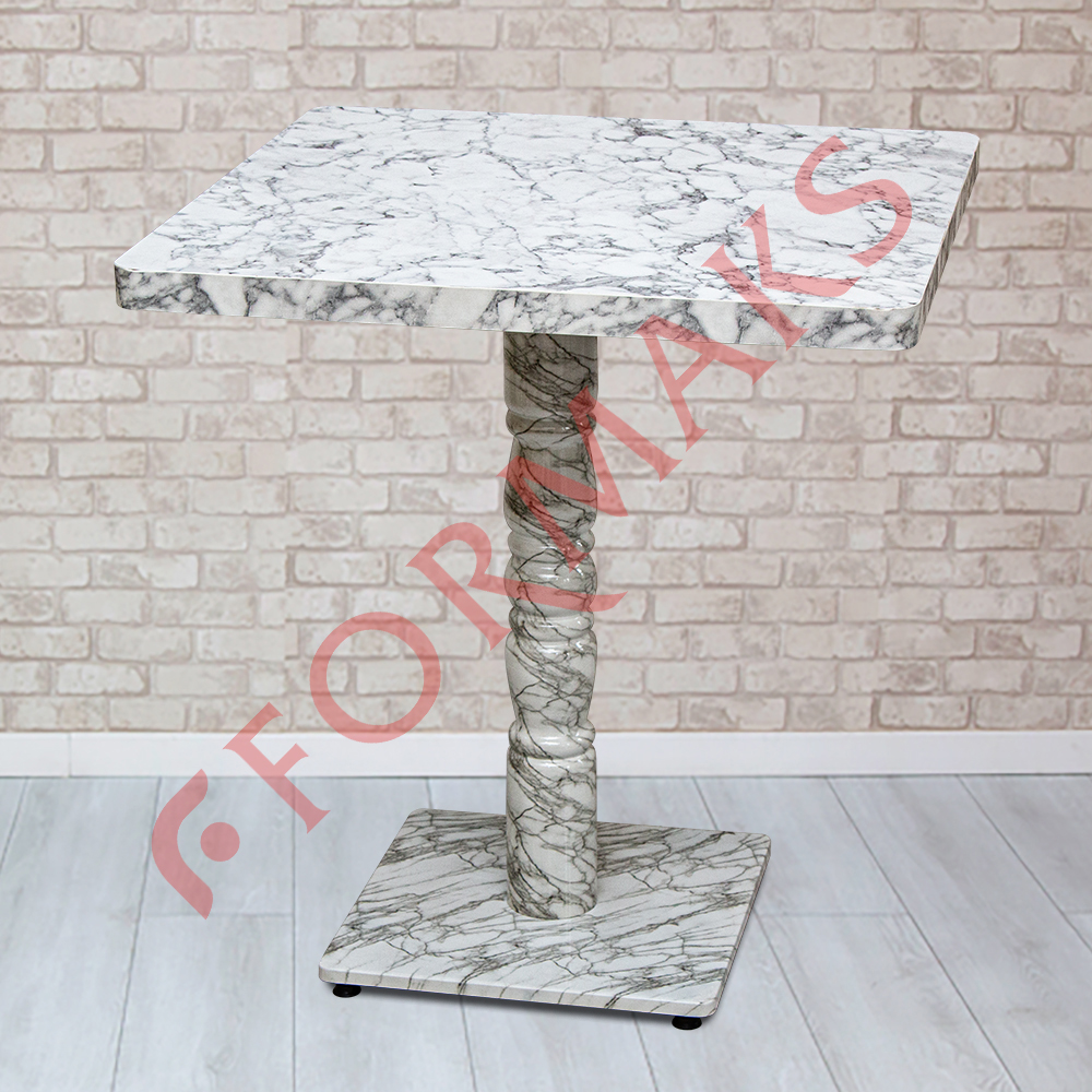 MDF White Marble Table