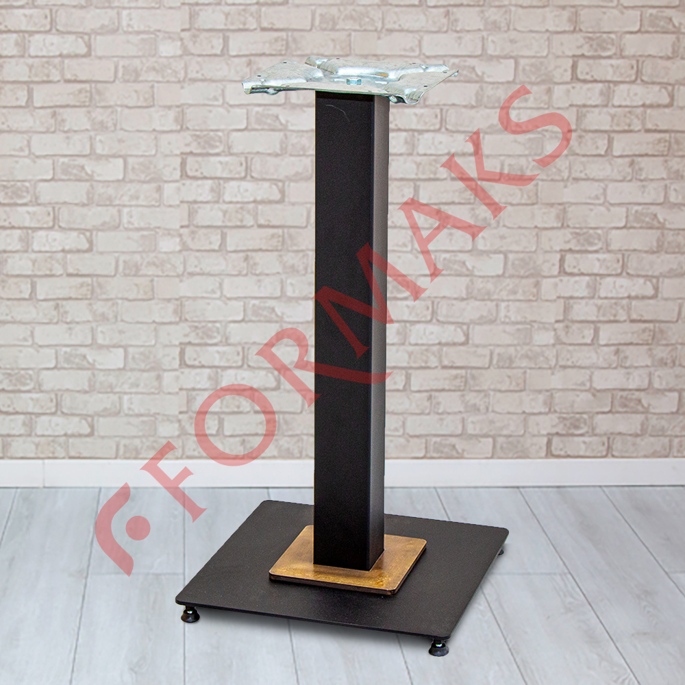 Table Legs with Metal Square Bracelets