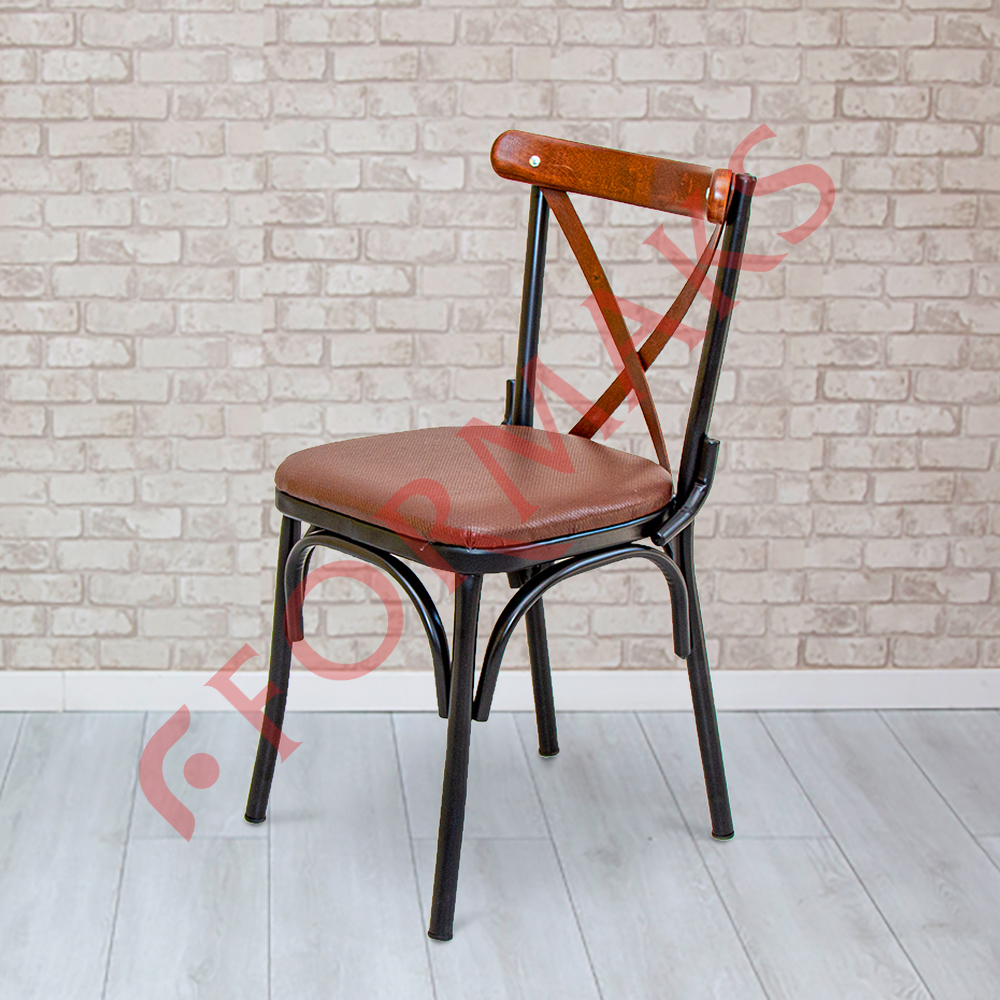 Metal Upholstered Tonet Chair